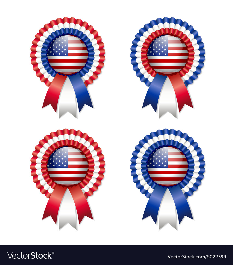 American rosettes vector image