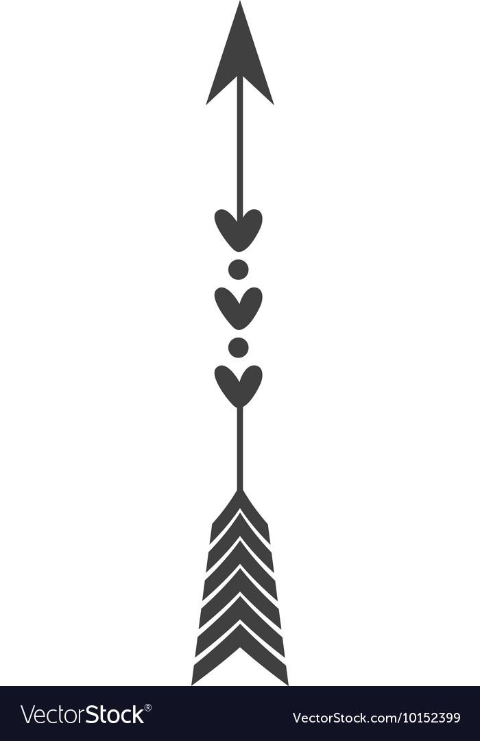 Arrow Feather Vintage Decoration Icon Royalty Free Vector
