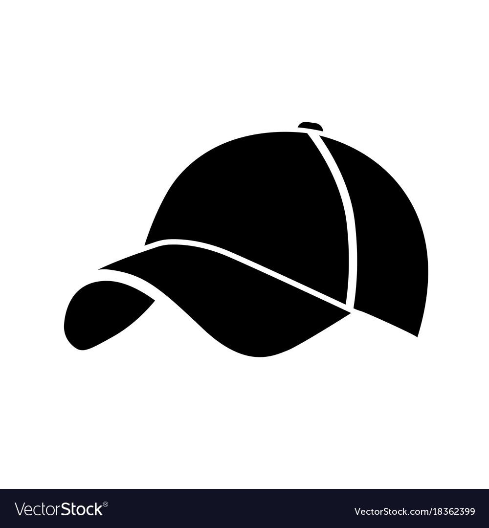 2583b2cb7c38 Black baseball cap icon Royalty Free Vector Image