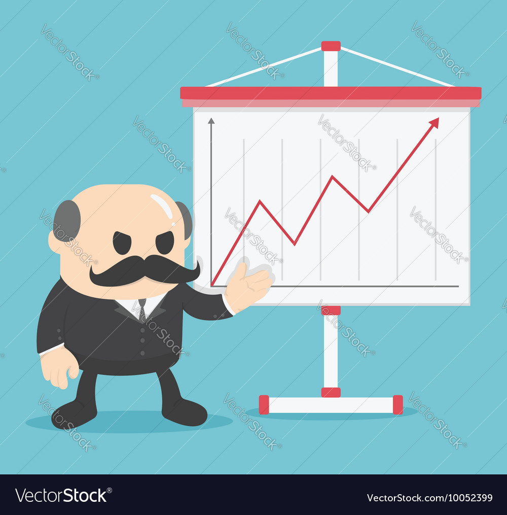 Business show graph growing up vector image