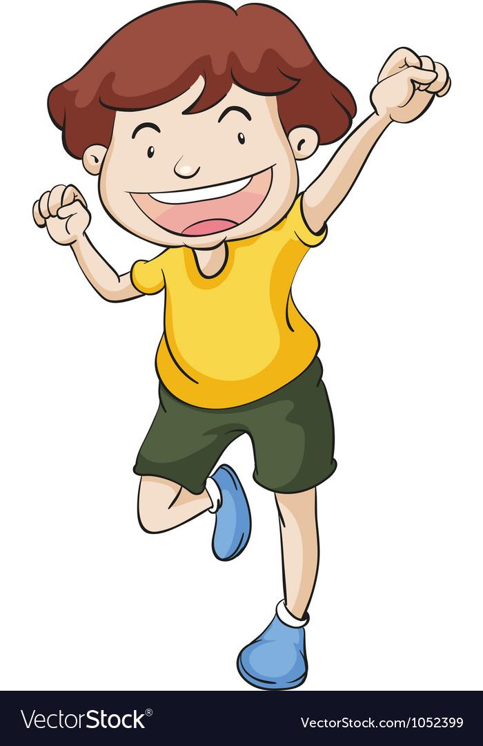 Dancing Boy Vector Image