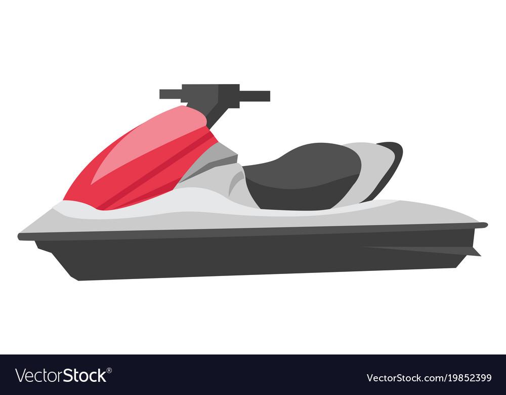 Jet Ski Cartoon Royalty Free Vector Image Vectorstock