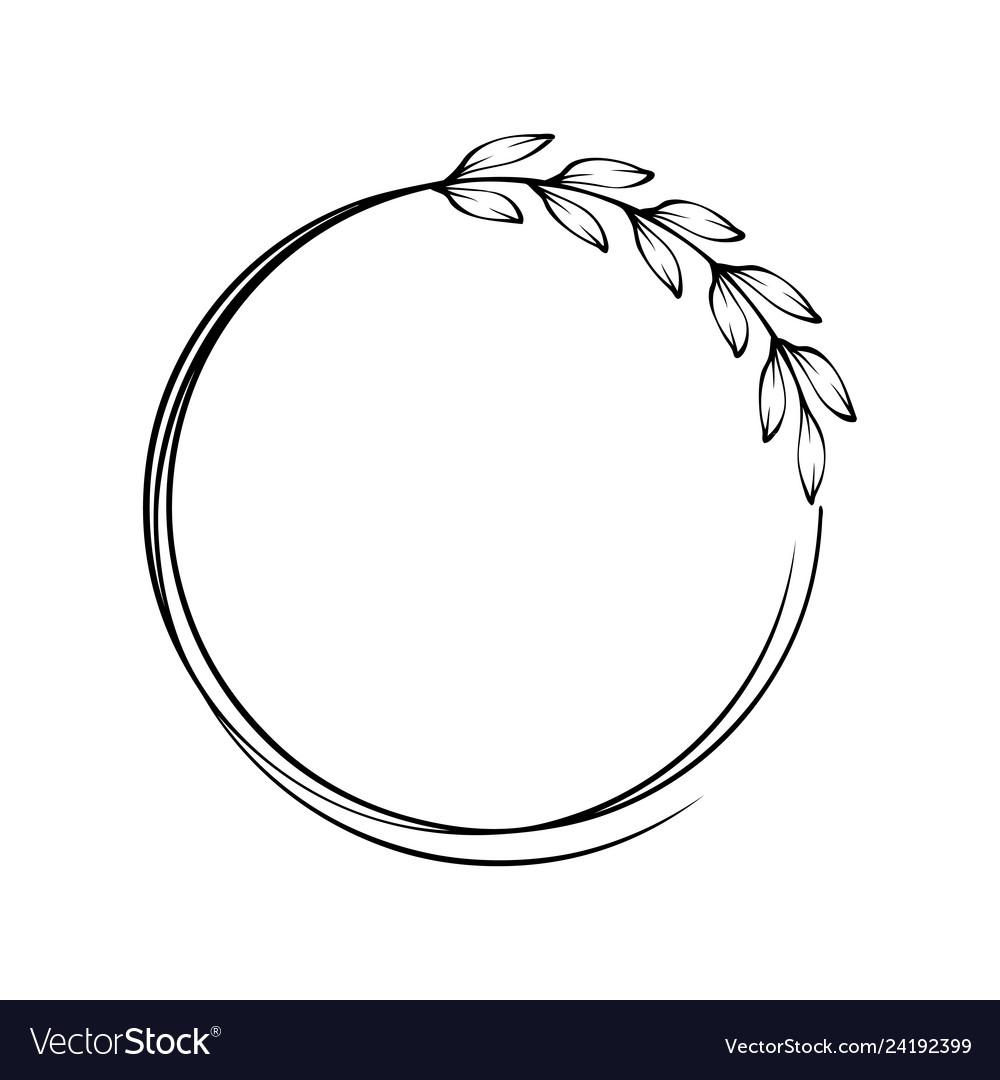 Leaf branch round place frame