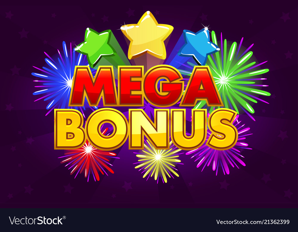Mega bonus banner for lottery or casino
