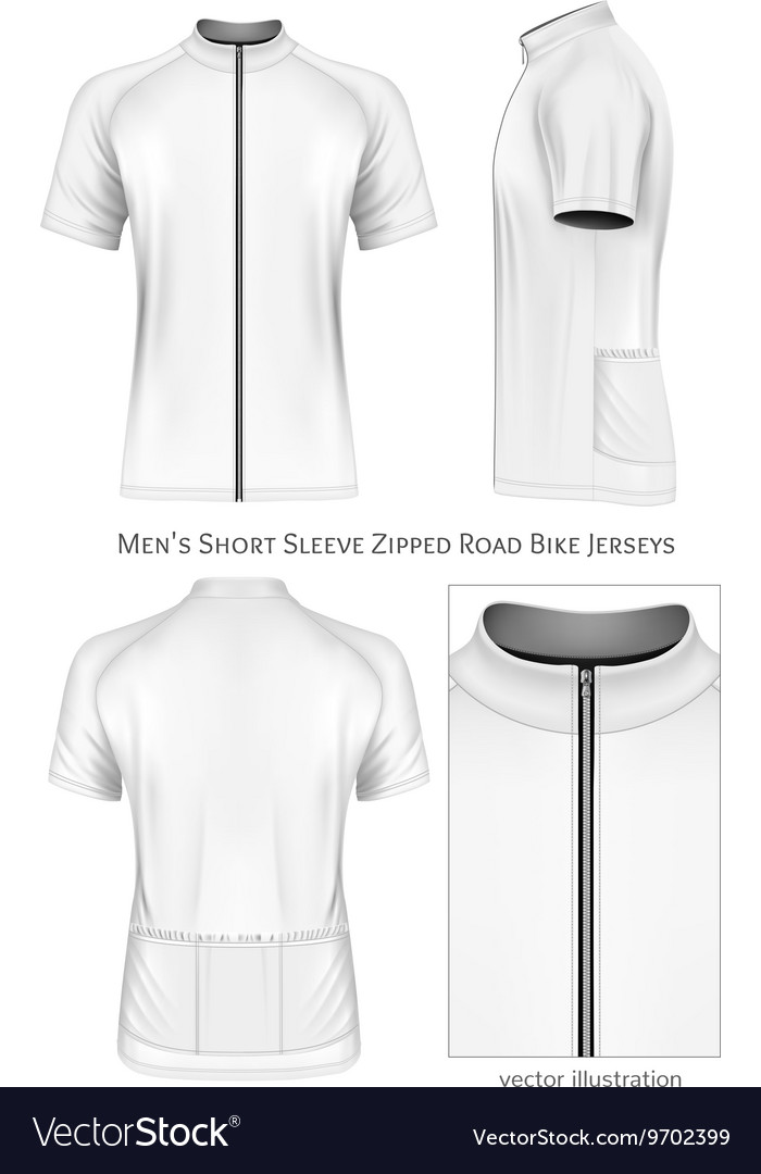 Short Sleeve Cycling Jersey For Men Royalty Free Vector