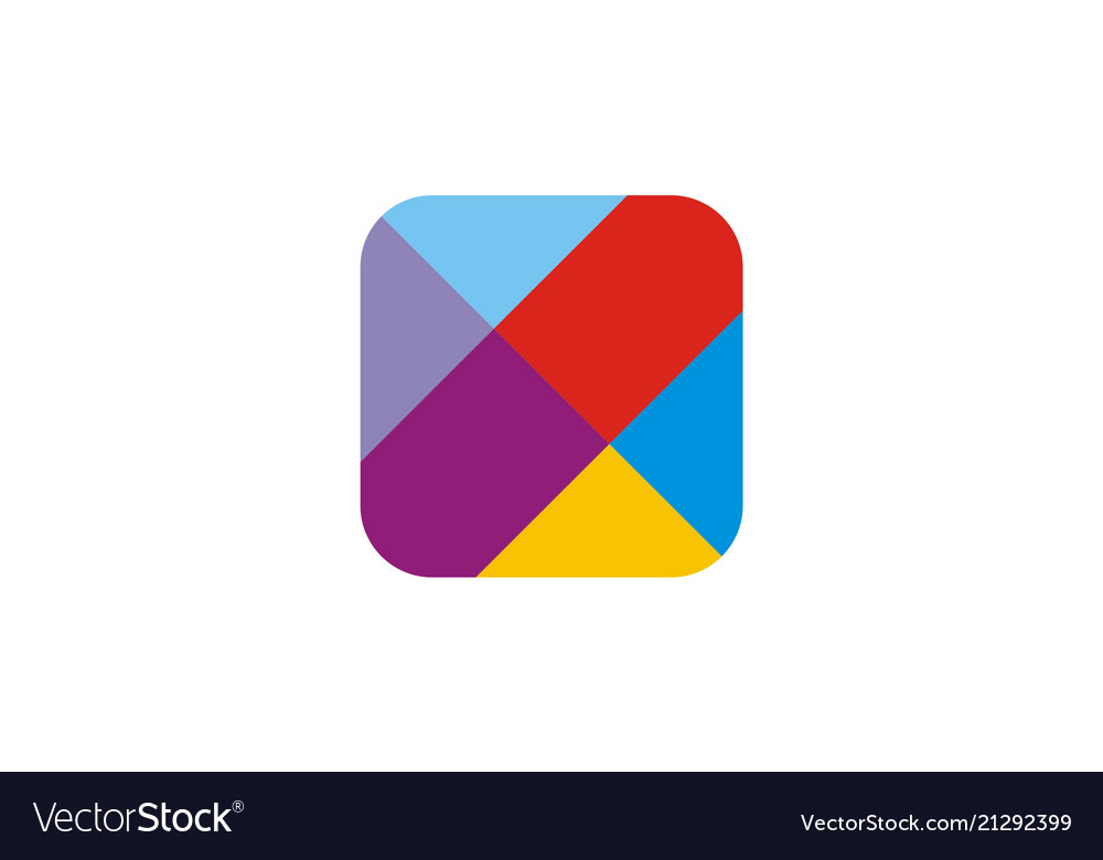Square icon colorful logo