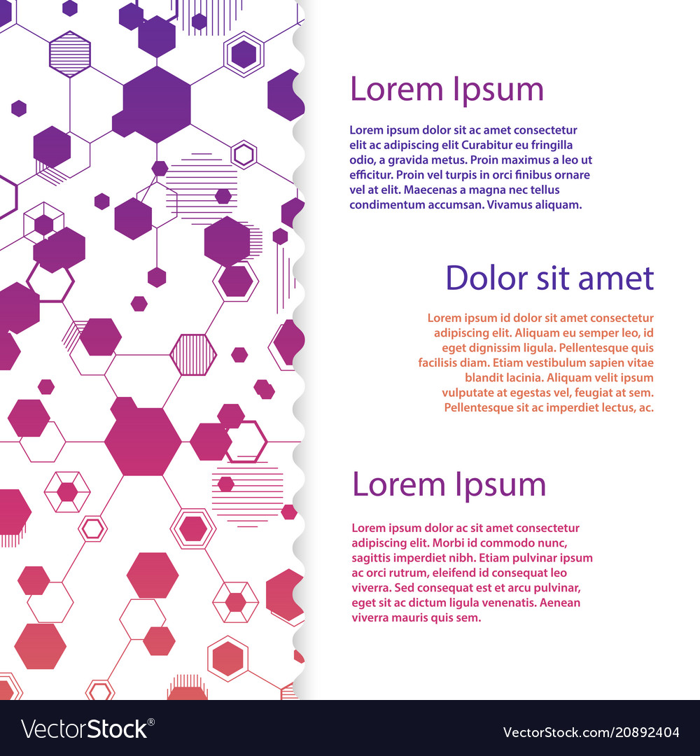 Abstract honeycomb flyer template