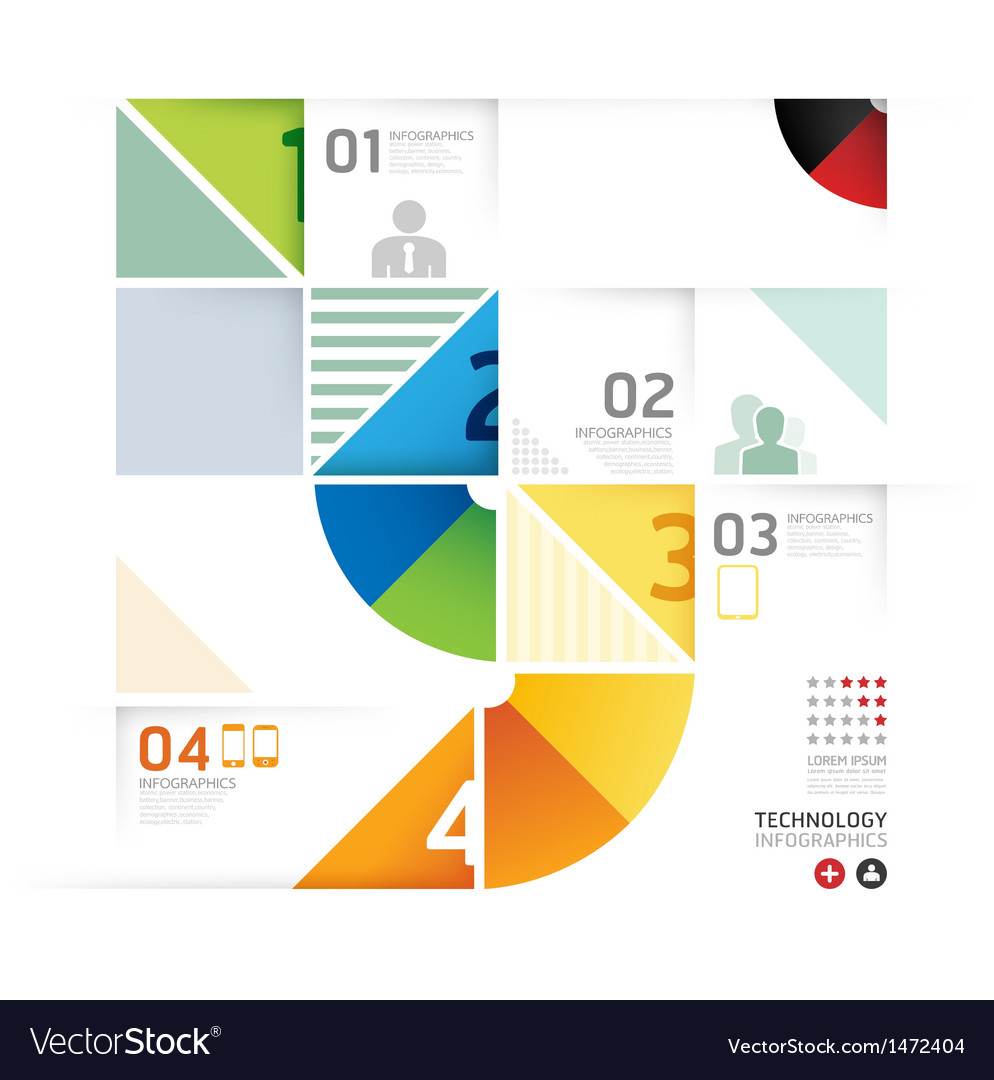 Abstract infographic design minimal circle shape