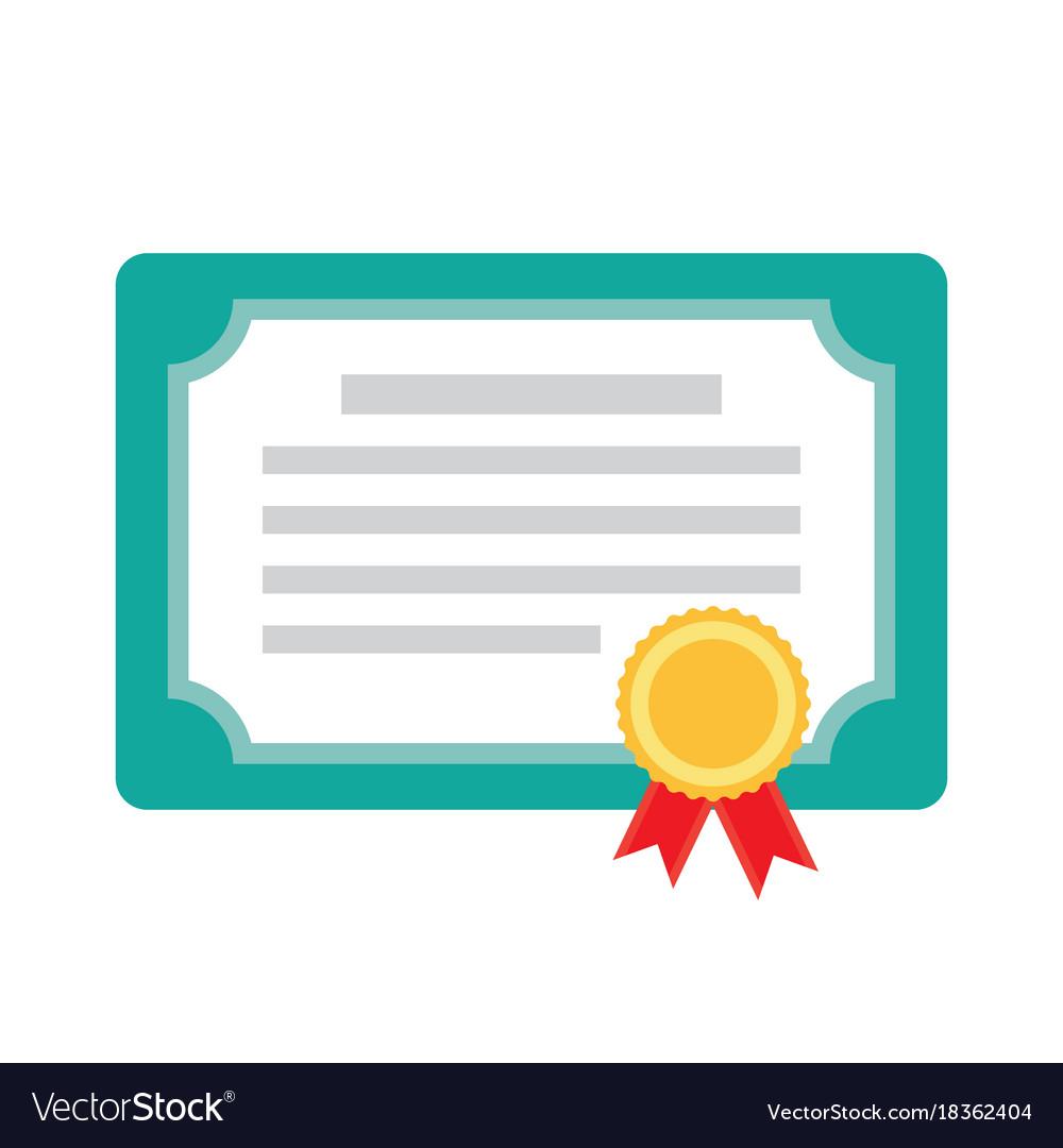 diploma certificate award icon royalty free vector image rh vectorstock com certificate vector free download certificate vector free download