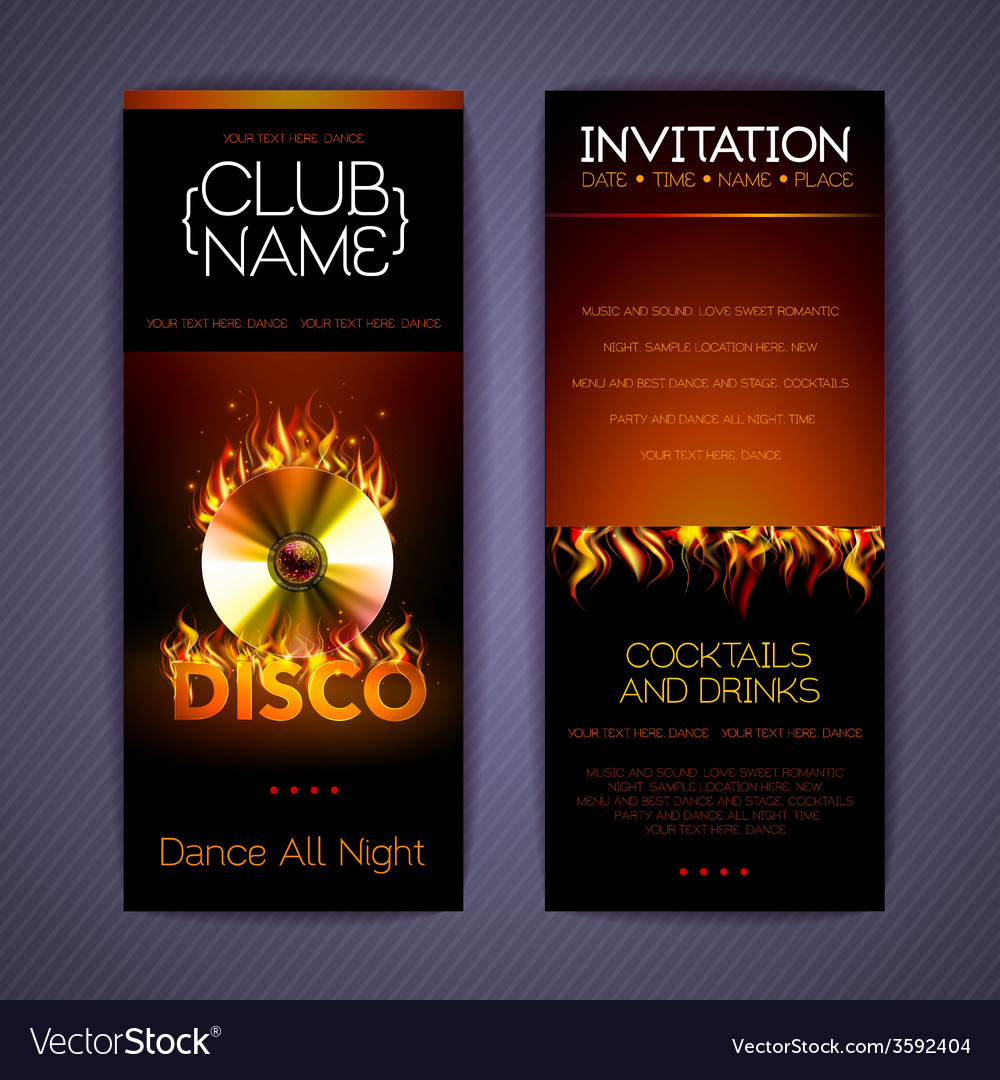 Disco Corporate identity templates vector image