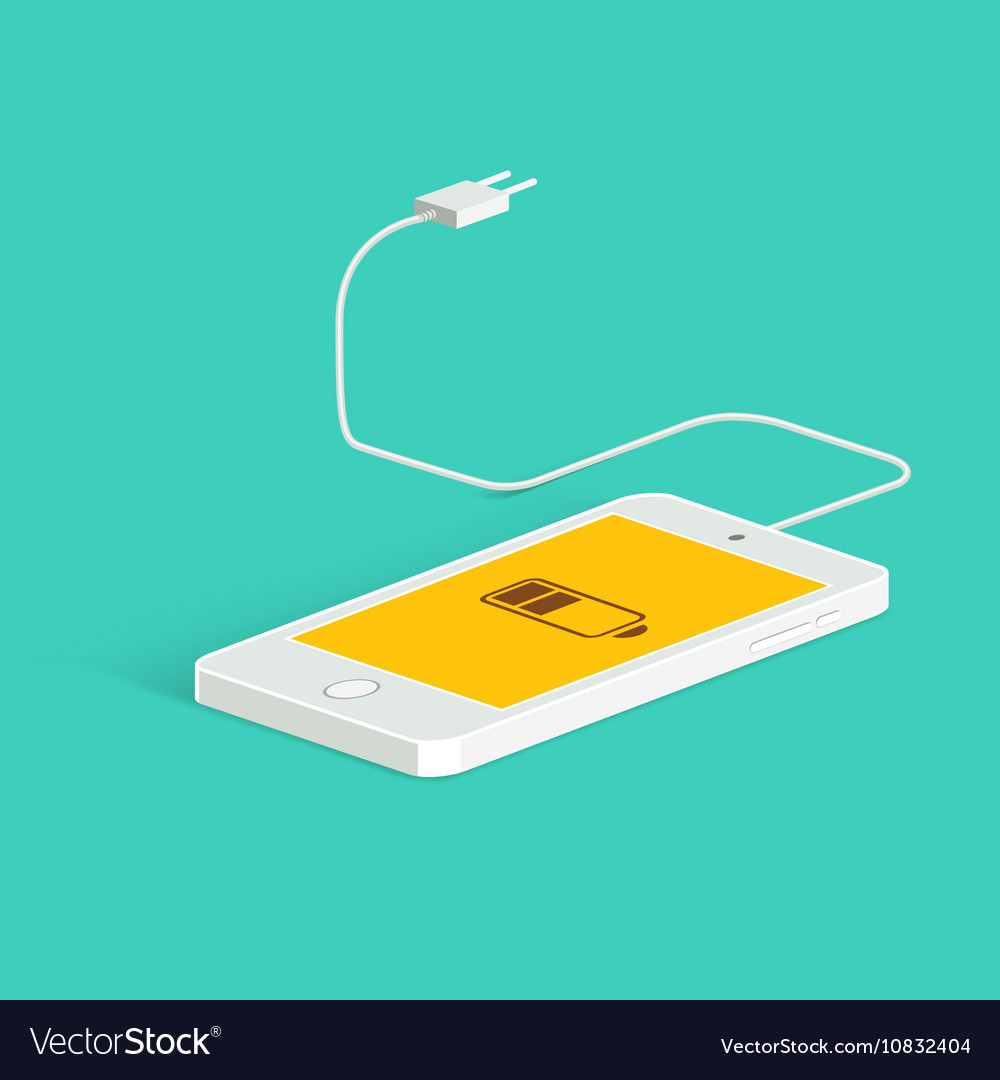 Flat image of phone cable and charger