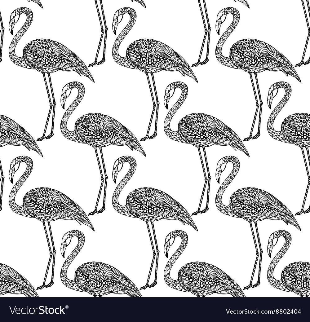 обновление картинки фламинго для распечатки черно белые фон самой