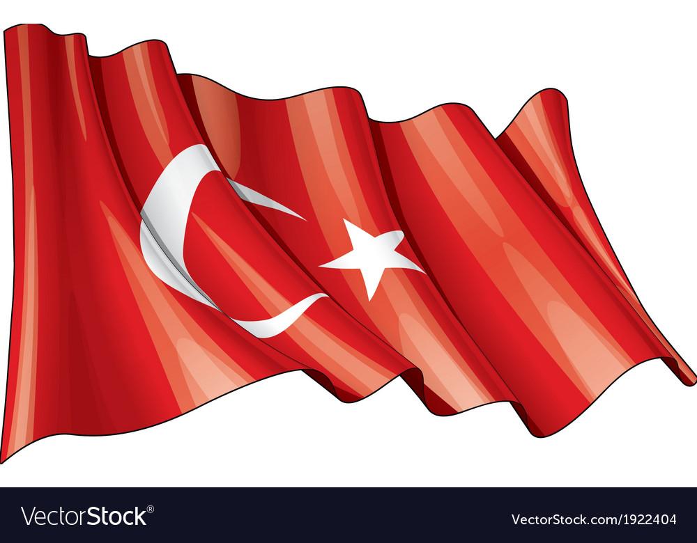 Turkye flag grunge