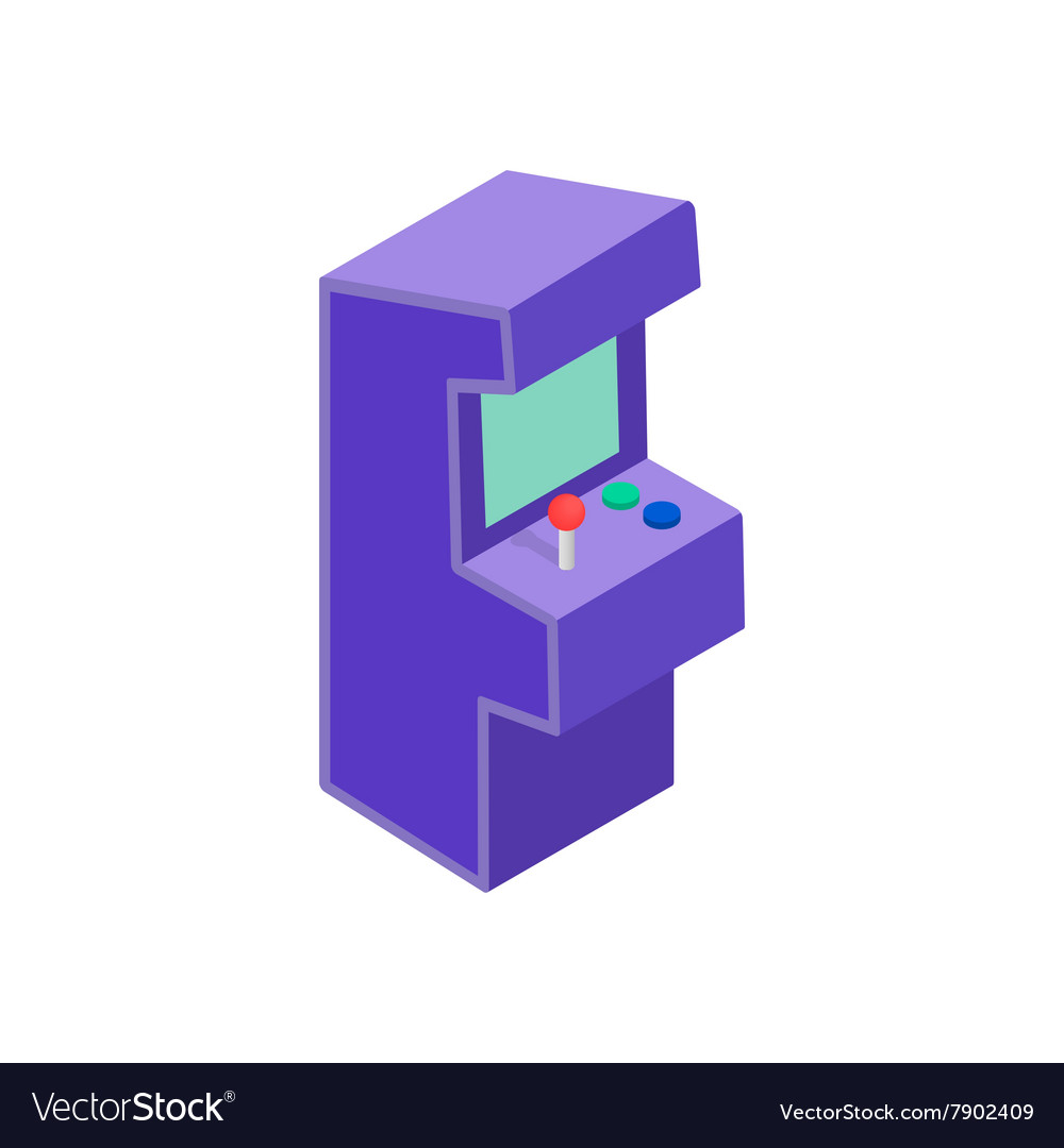 Arcade game machine icon isometric 3d style vector image