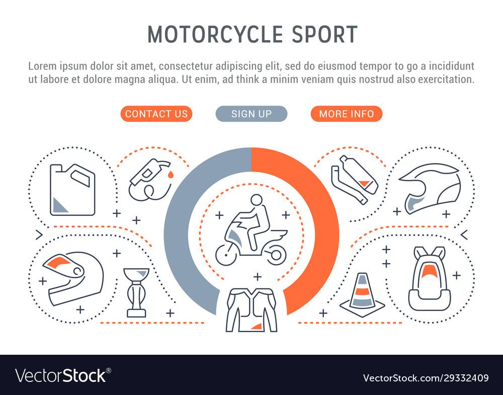 Banner motorcycle sport
