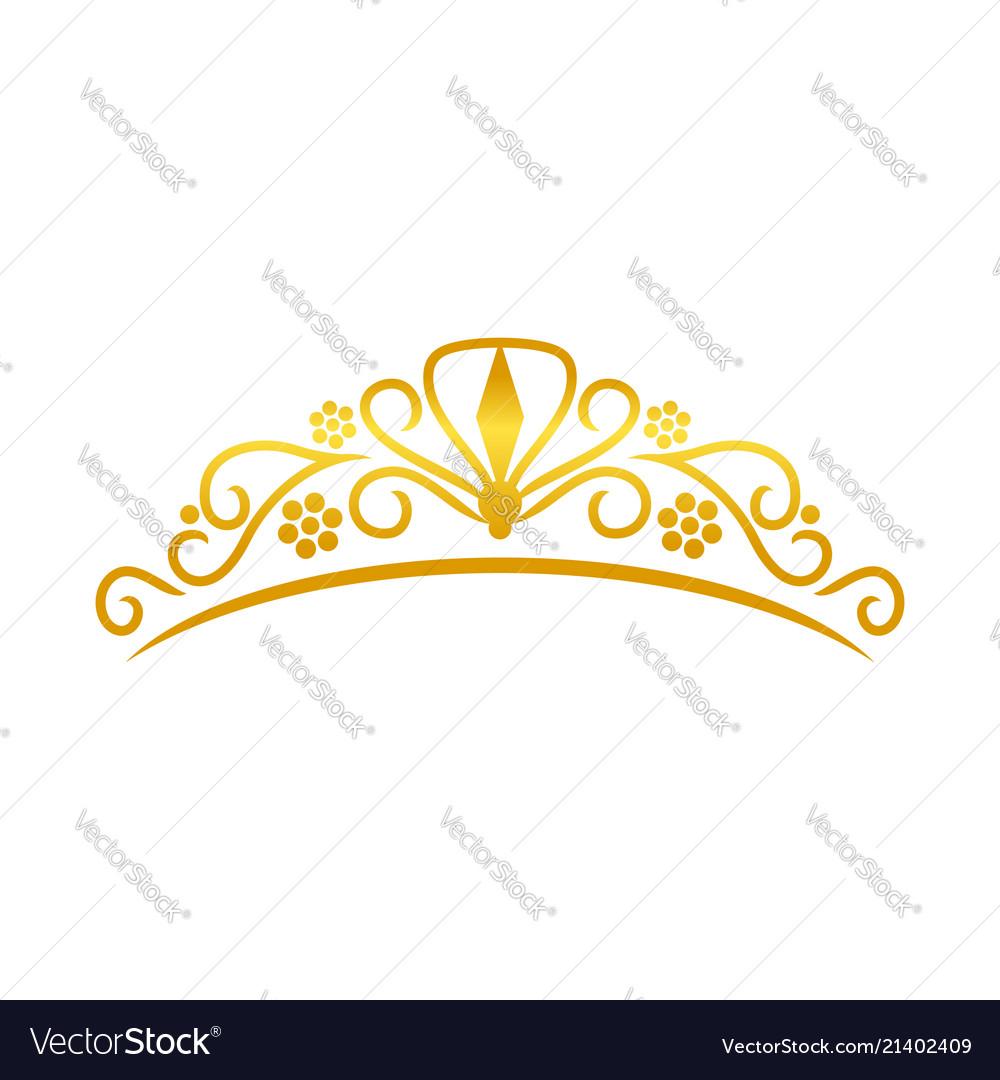 Beauty golden tiara crown design