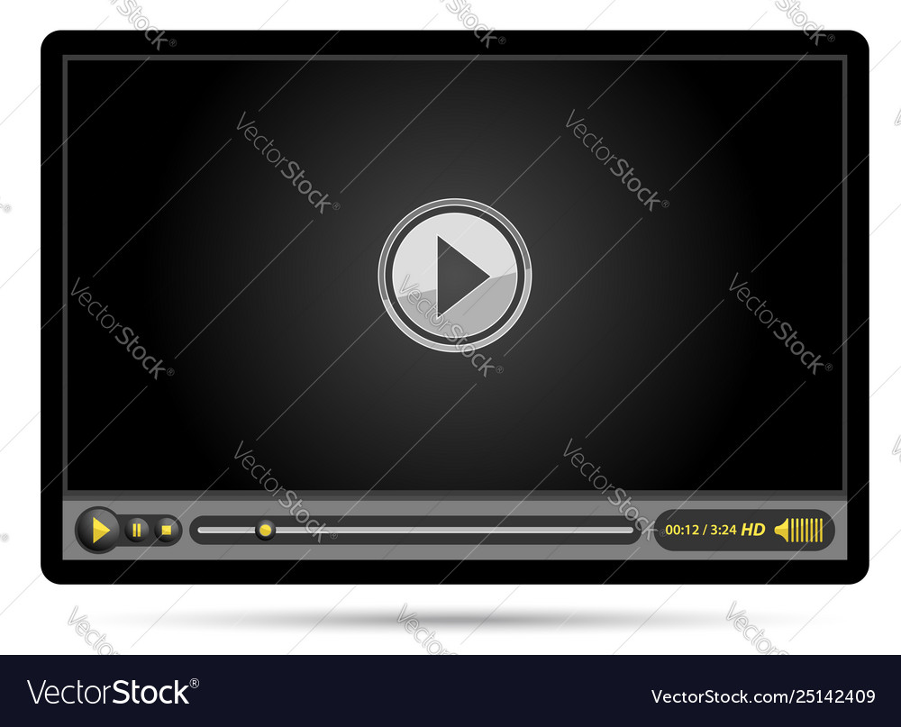 Black video player
