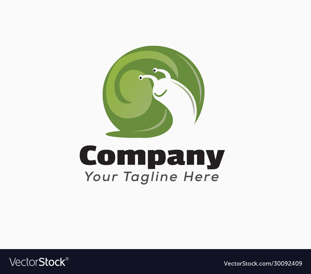 Body Snail Negative Space Logo Design Inspiration Vector Image