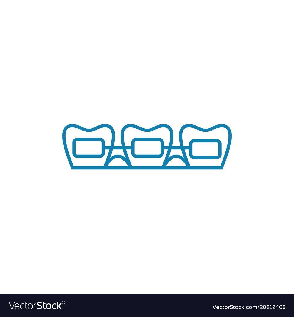 Brackets linear icon concept brackets line