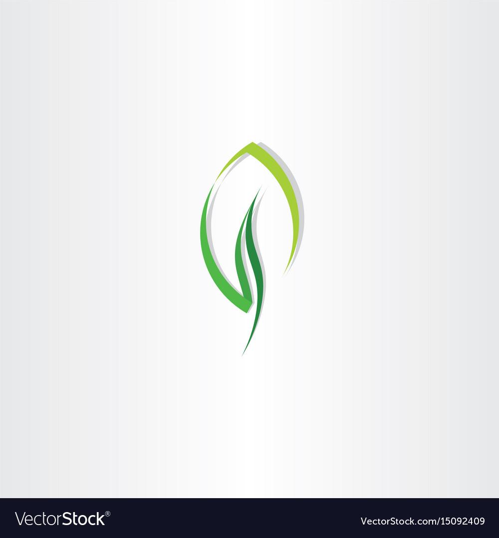 Eco leaf green design logo icon