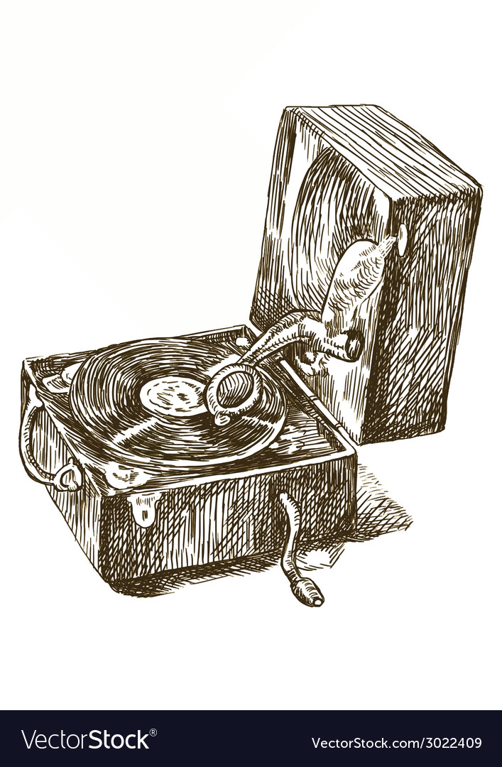Gramphone vector image