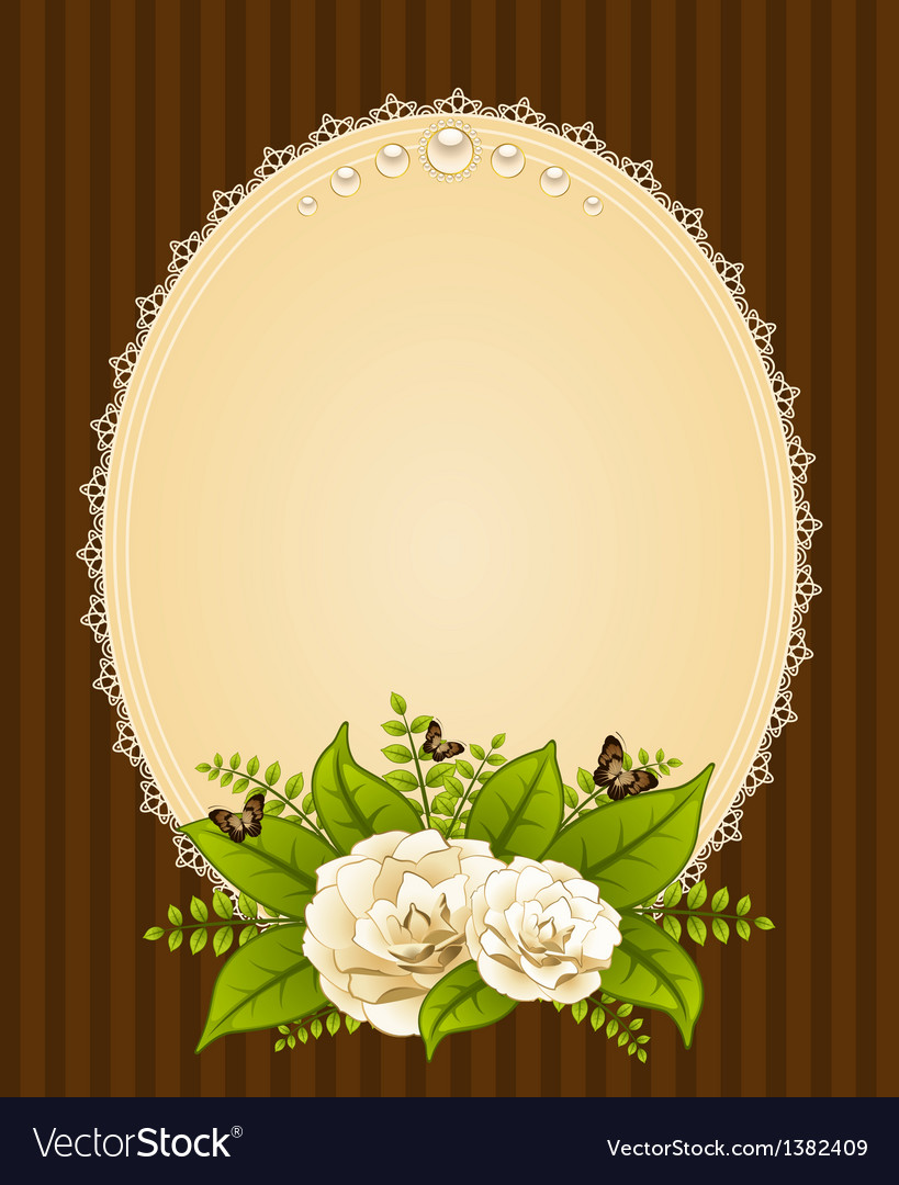 Ornate background vector image