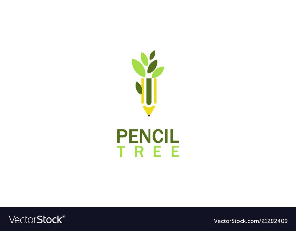 Pencil tree education logo