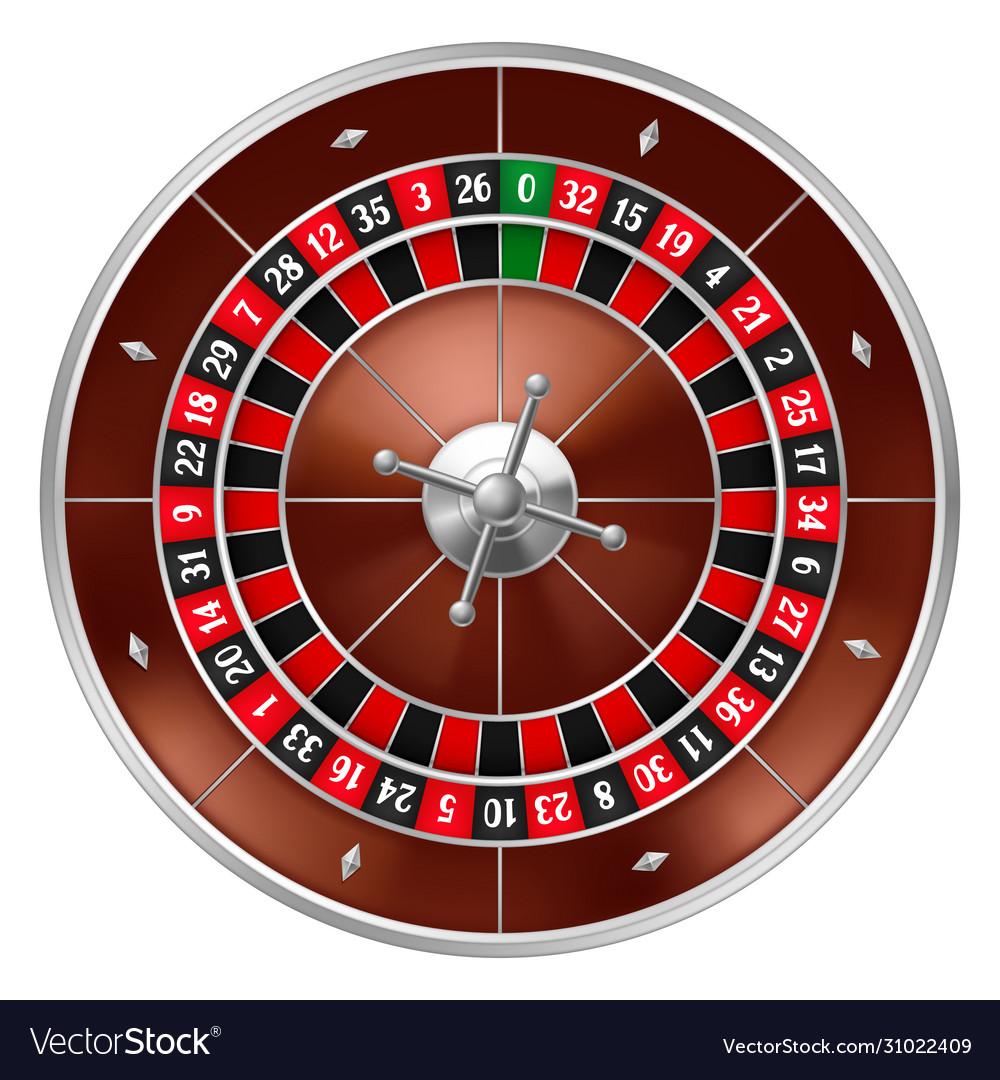 Realistic casino gambling roulette wheel
