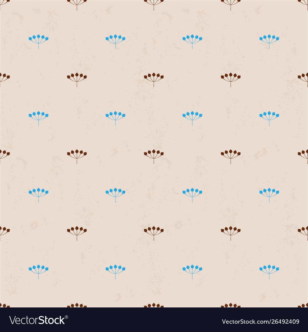 Seamless background with blue and brown berries on