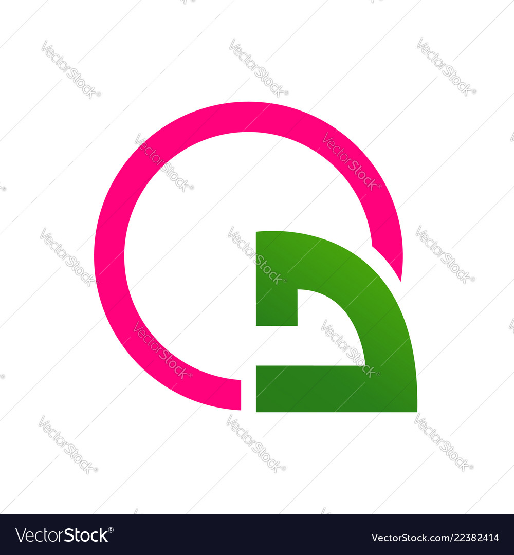 Abstract turn arrow with pink circle logo template