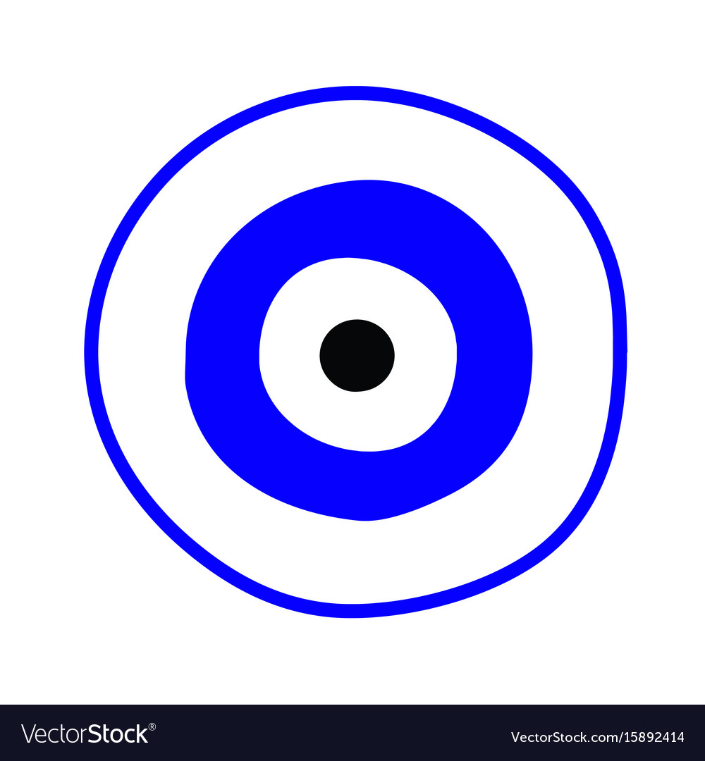 Blue greek evil eye - symbol of protection Vector Image a2454d835