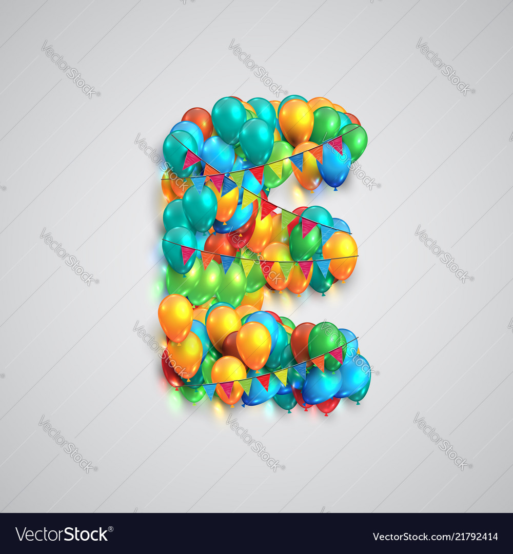 Colorful font made by ballons