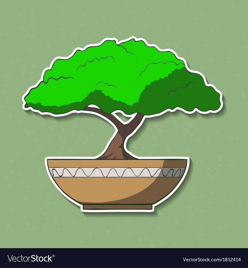 Colorful paper bonsai tree