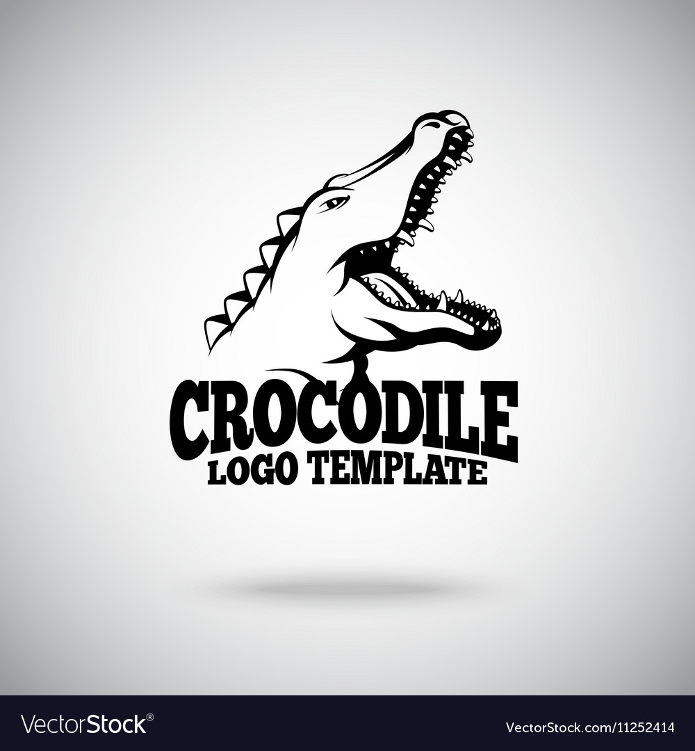 crocodile logo template for sport teams royalty free vector