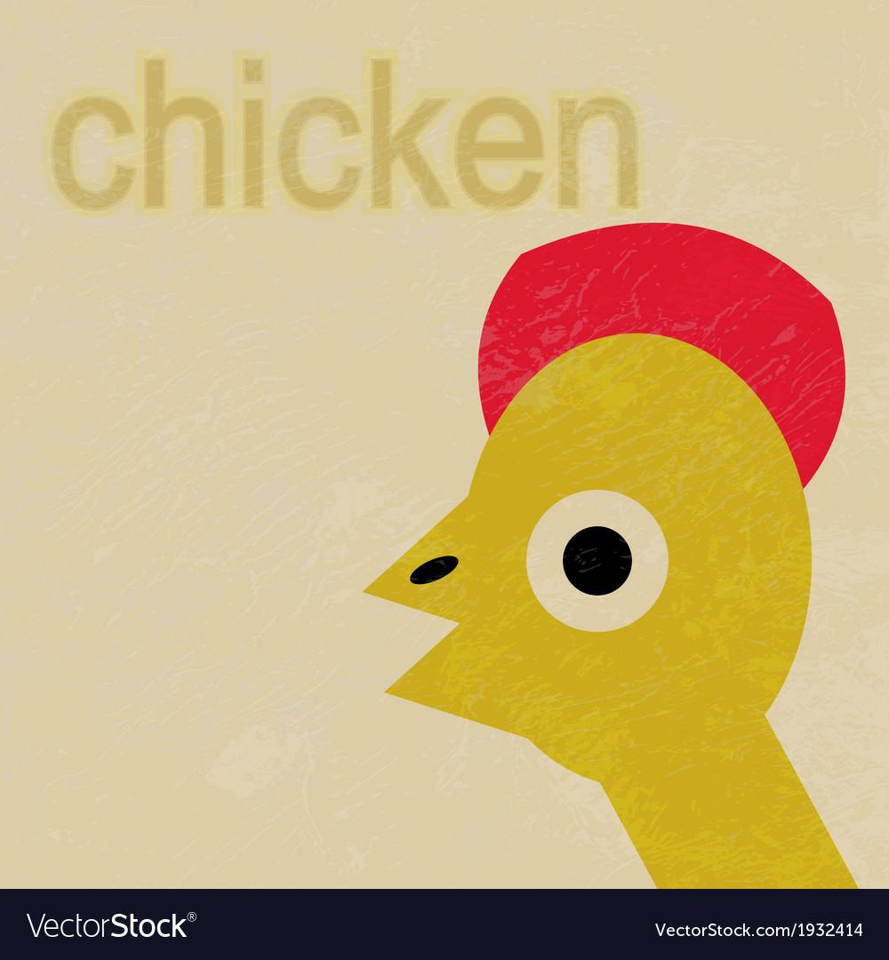 Happy Baby Chicken Cartoon