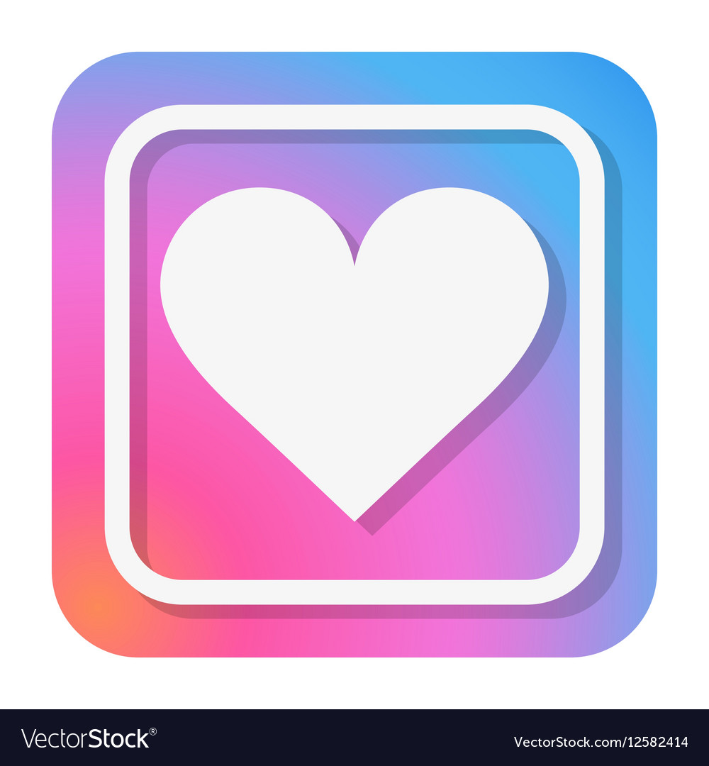 Heart Icon in trendy color