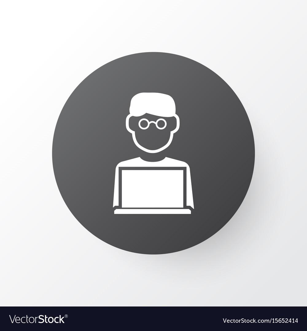 Man with laptop icon symbol premium quality