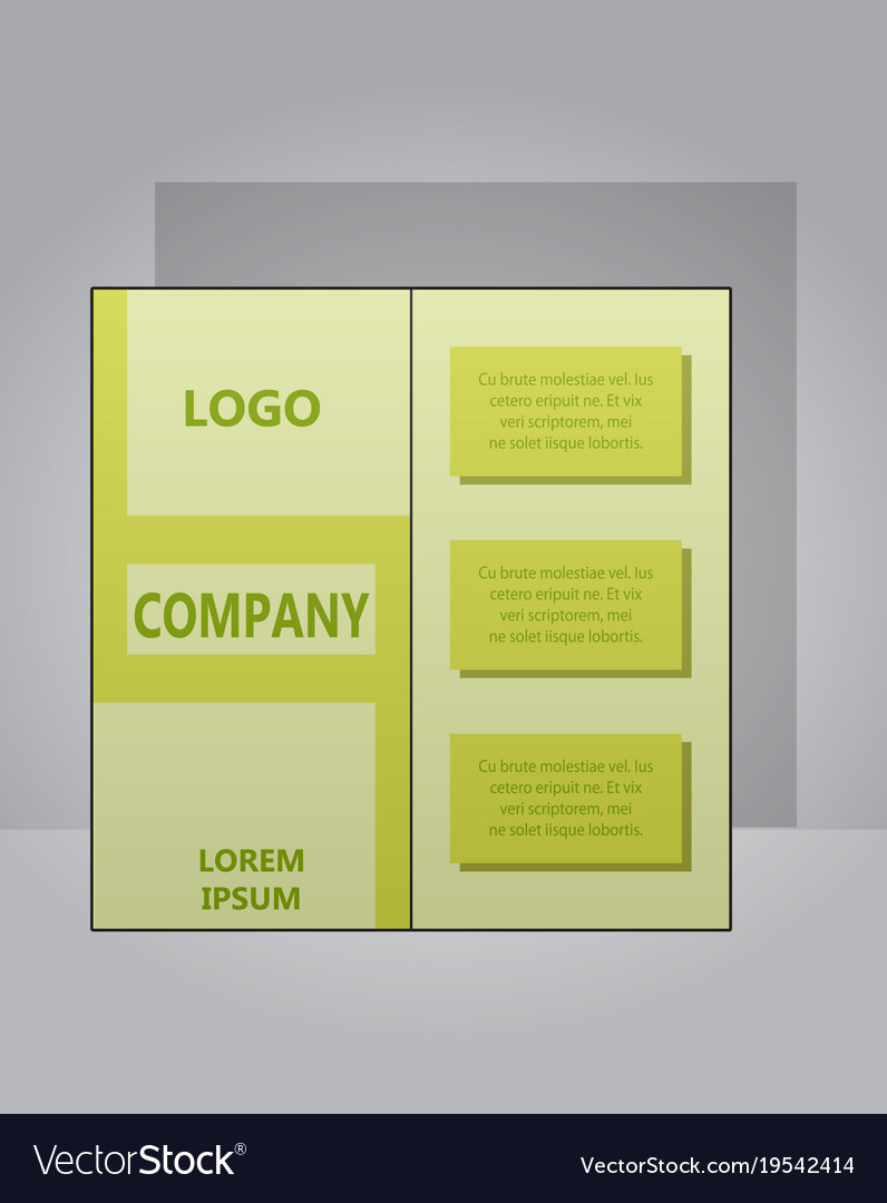 Modern Light Business Card Template For Company Vector Image
