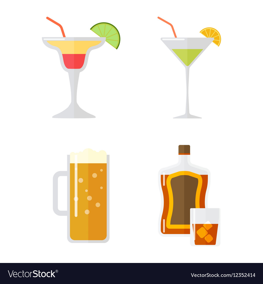 Set of alcohol drink