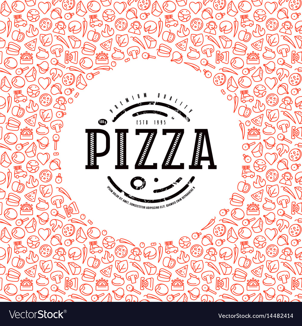 Stock design cover for pizza boxes