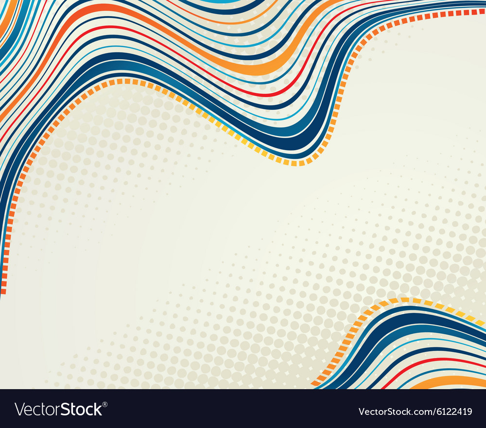 Abstract retro dots halftone wave