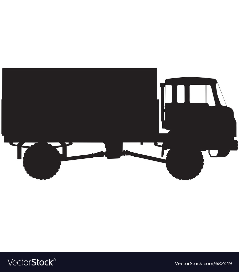 Army truck silhouette