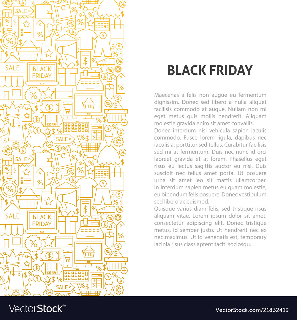 Black friday line pattern concept