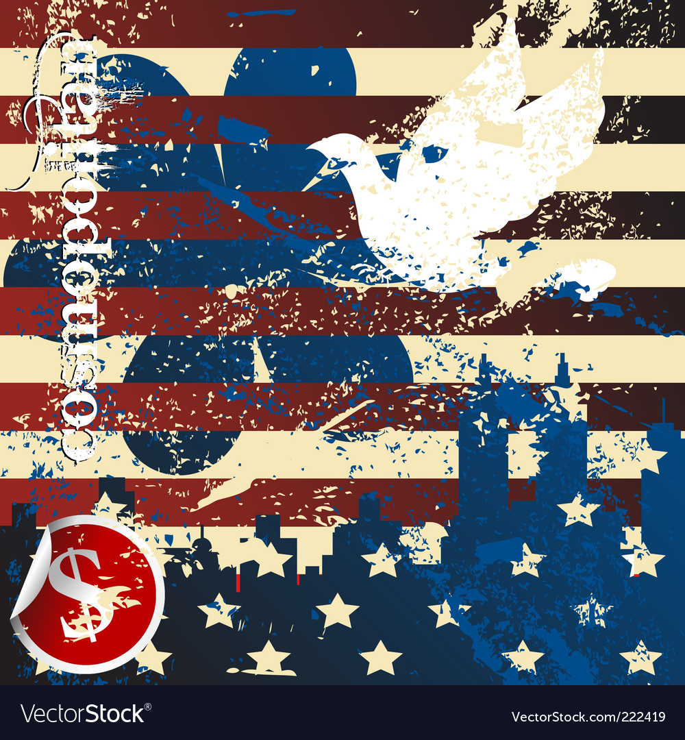 Grunge American vector image