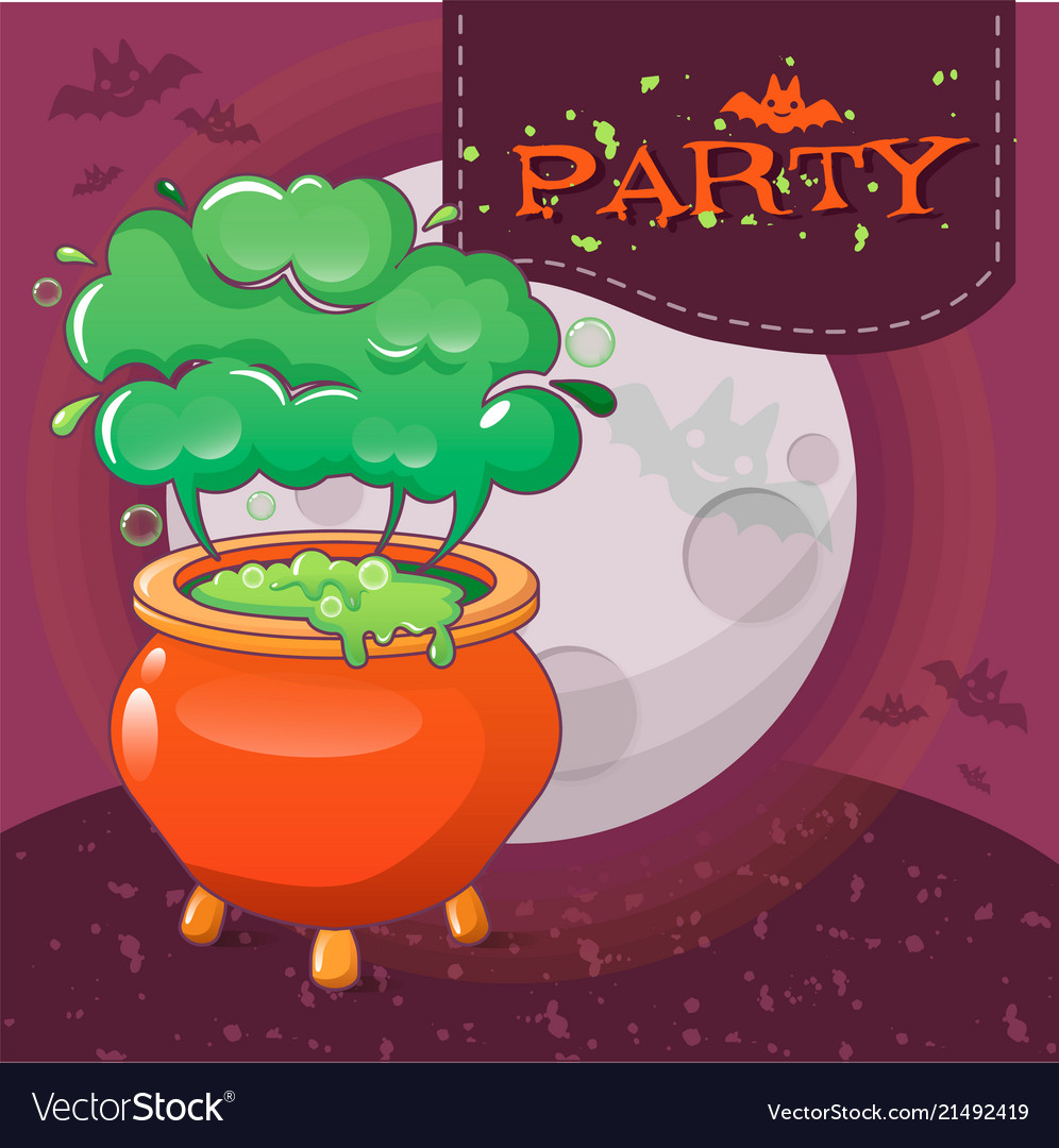 Halloween party concept background cartoon style