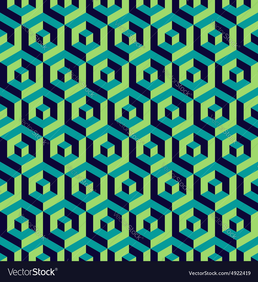 Isometric 3d hexagon seamless pattern background