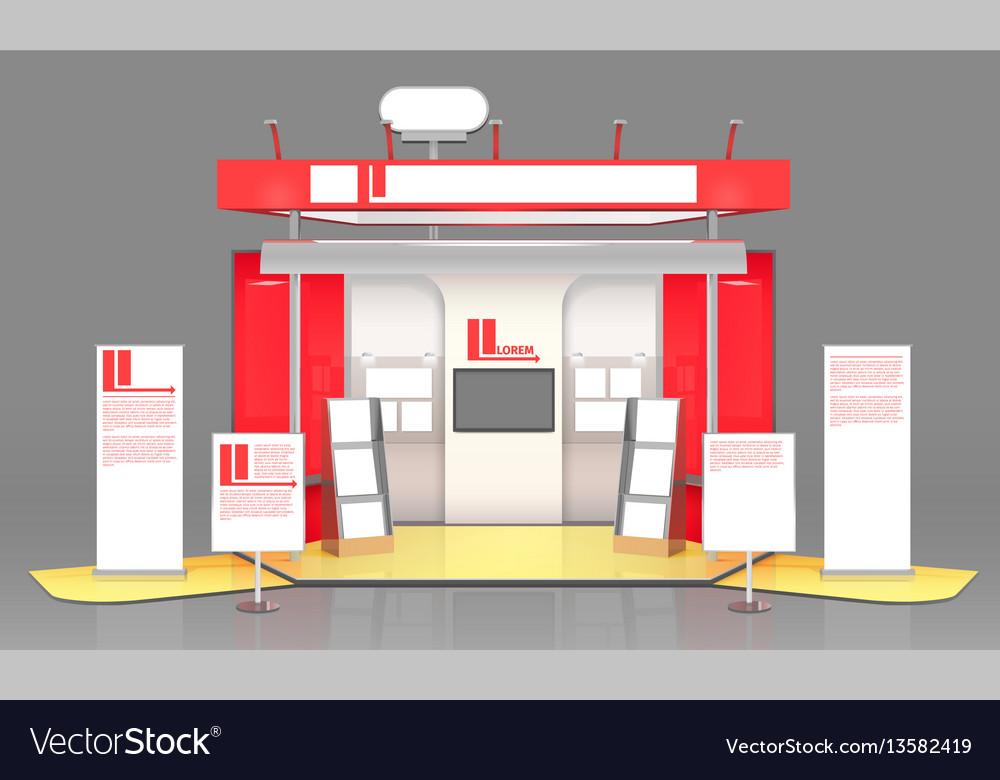 Red exhibit display case design