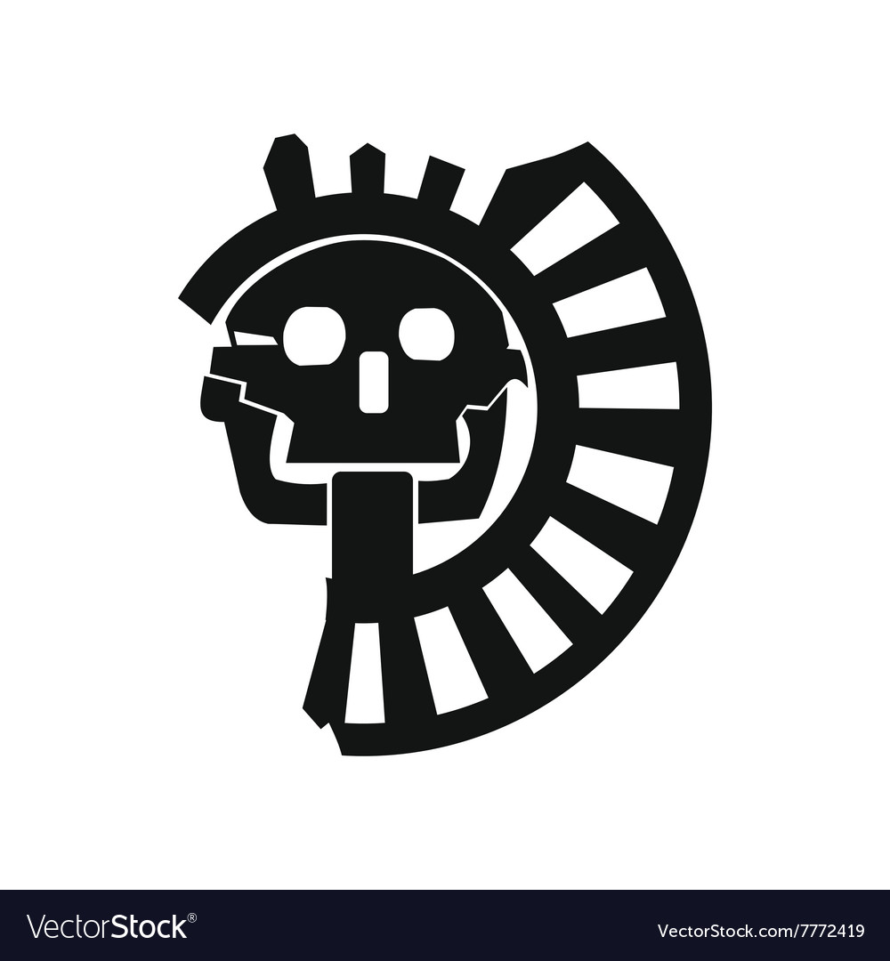 Skull The God Of Death Of Aztecs Icon Royalty Free Vector