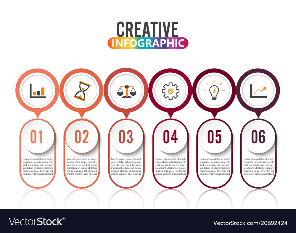 Abstract infographics number 6 options template