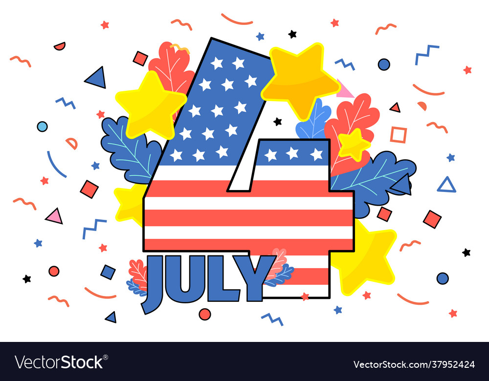 Happy 4th july concept independence day